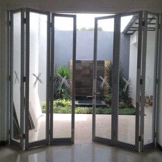 pintu lipat alminium
